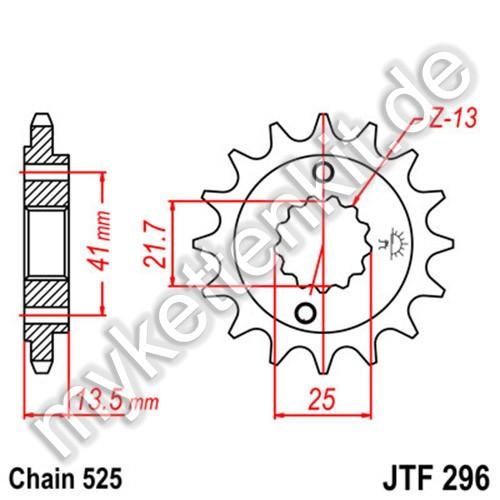 Ritzel JT Sprockets JTF296