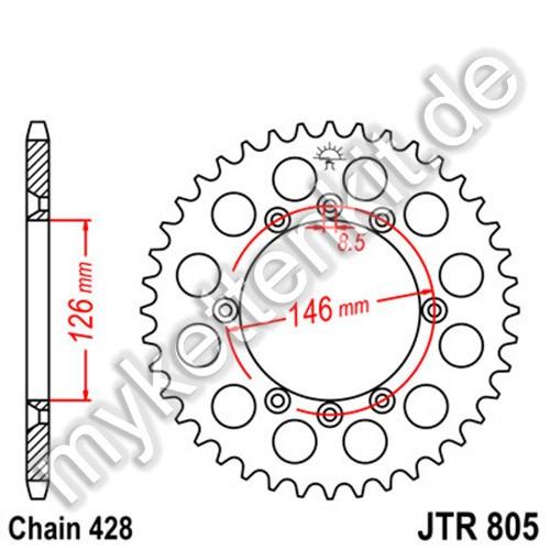 Kettenrad JTR805 Stahl