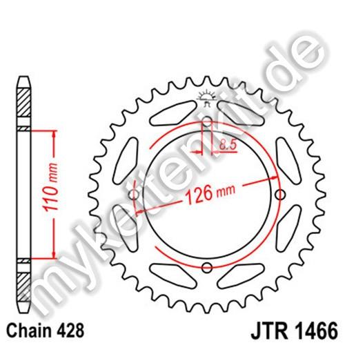 Kettenrad JTR1466 Stahl