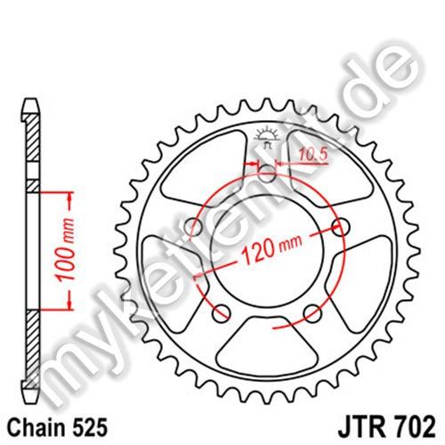 Kettenrad JTR702 Stahl