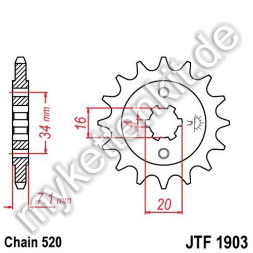 Ritzel JT Sprockets JTF1903