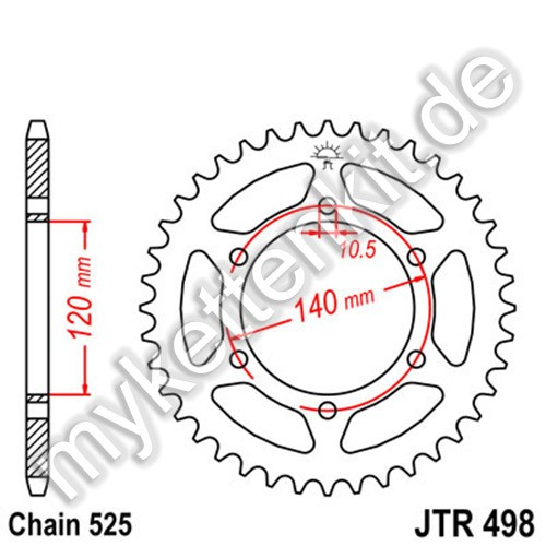 Kettenrad JTR498 Stahl