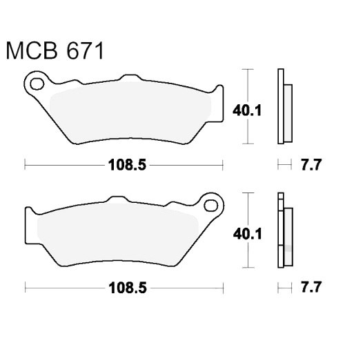 Bremsklotz Sinter hinten TRW MCB671SH (1 Satz)