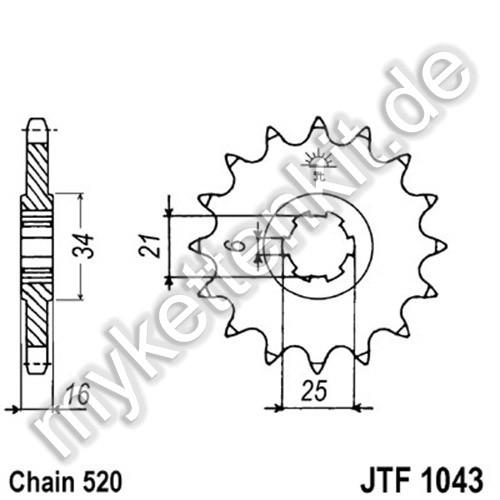 Ritzel JT Sprockets JTF1043