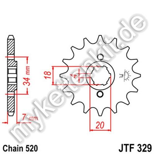 Ritzel JT Sprockets JTF329