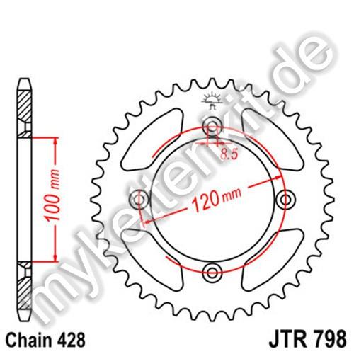 Kettenrad JTR798 Stahl