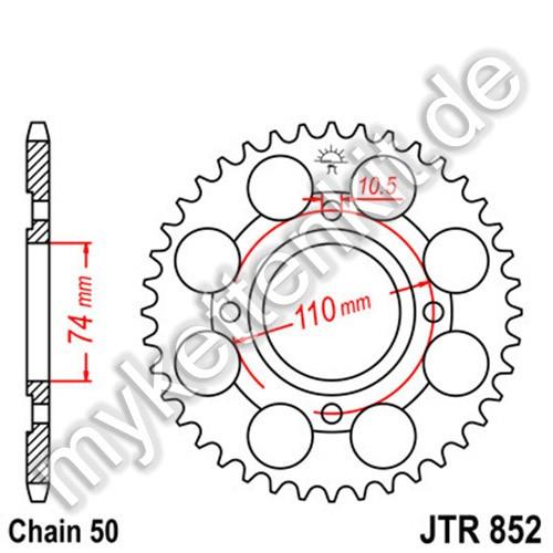 Kettenrad JTR852 Stahl