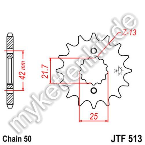 Ritzel JT Sprockets JTF513