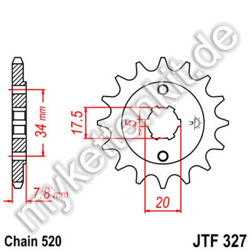 Ritzel JT Sprockets JTF327