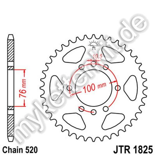 Kettenrad JTR1825 Stahl