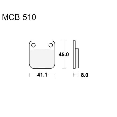 Bremsklotz Standard TRW MCB510 (1 Satz)