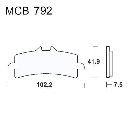 Bremsklotz Sinter SRT TRW MCB792SRT (1 Satz)