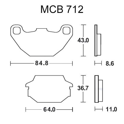 Bremsklotz Standard TRW MCB712 (1 Satz)