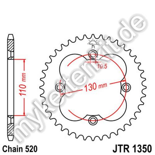 Kettenrad JTR1350 Stahl