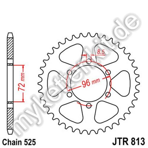 Kettenrad JTR813 Stahl