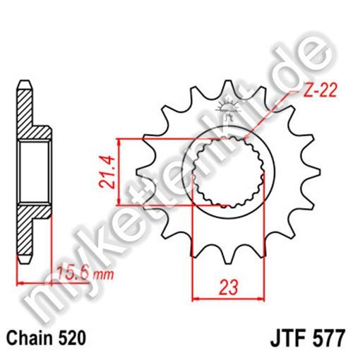 Ritzel JT Sprockets JTF577