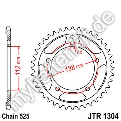 Kettenrad JTR1304 Stahl