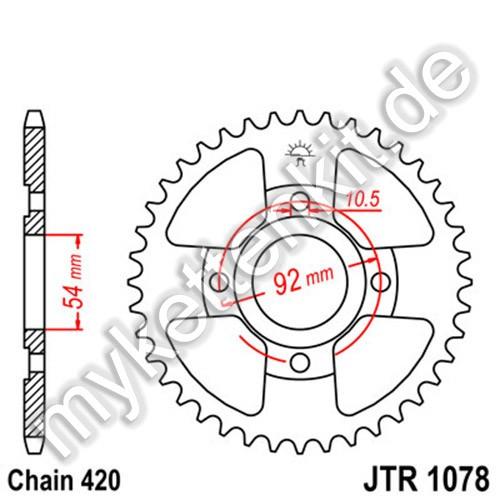 Kettenrad JTR1078 Stahl