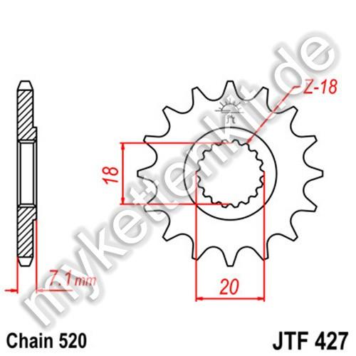 Ritzel JT Sprockets JTF427