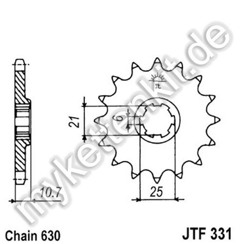 Ritzel JT Sprockets JTF331