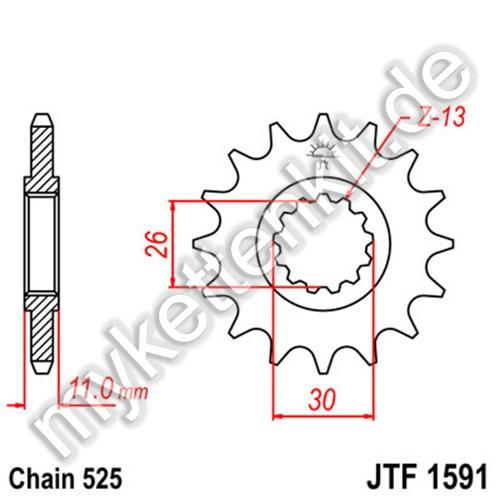 Ritzel JT Sprockets JTF1591