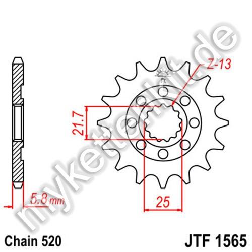 Ritzel JT Sprockets JTF1565