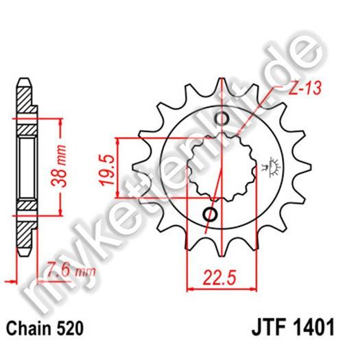Ritzel JT Sprockets JTF1401