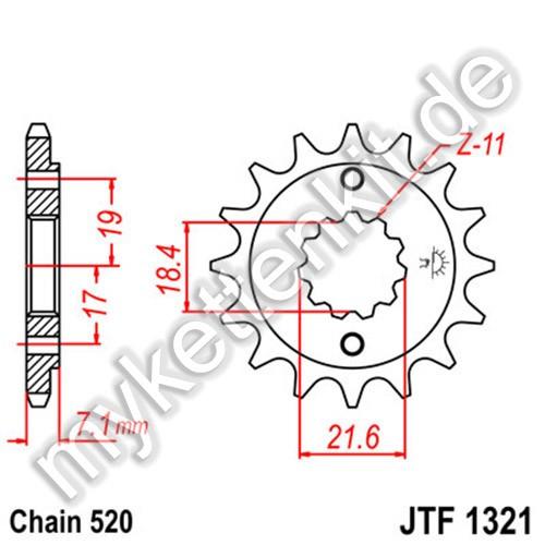 Ritzel JT Sprockets JTF1321