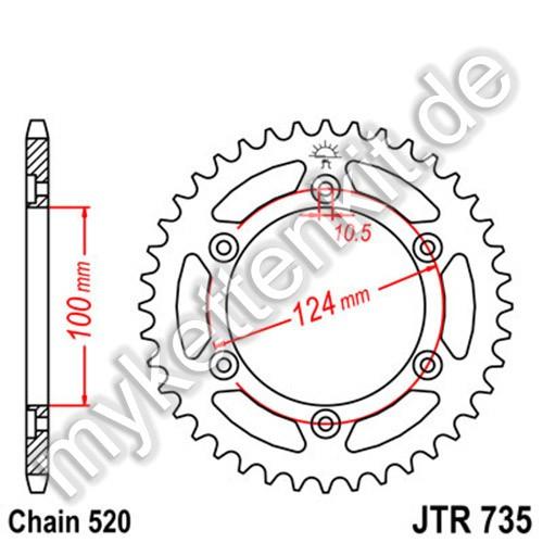 Kettenrad JTR735 Stahl
