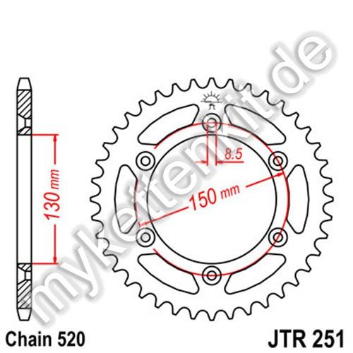 Kettenrad JTR251 Stahl