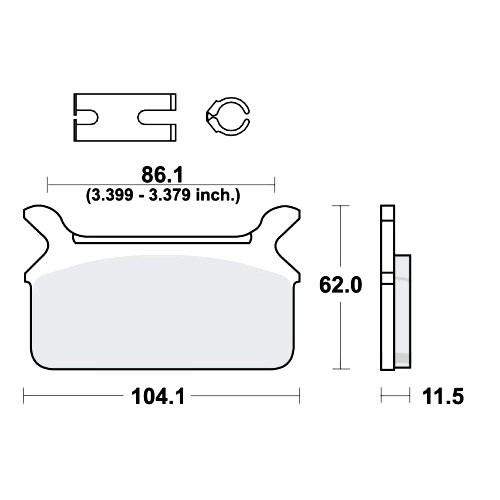 Bremsklotz Standard TRW MCB580 (1 Satz)