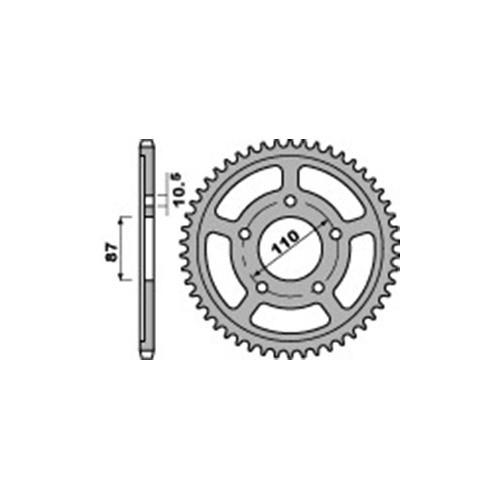 Kettenrad PBR828 Stahl