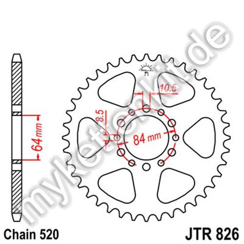 Kettenrad JTR826 Stahl