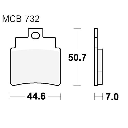 Bremsklotz Sinter Scooter TRW MCB732SRM (1 Satz)