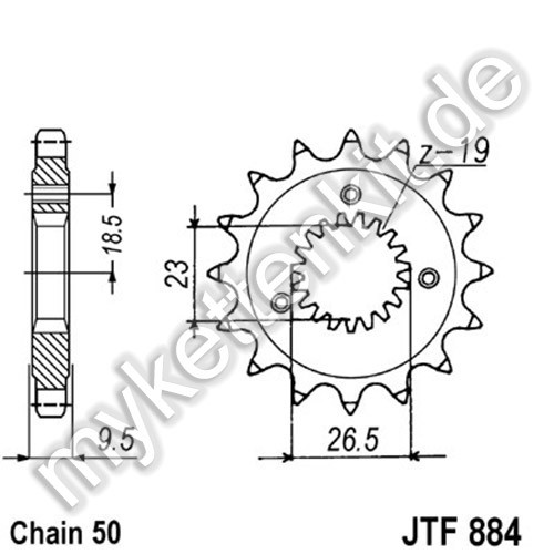 Ritzel JT Sprockets JTF884