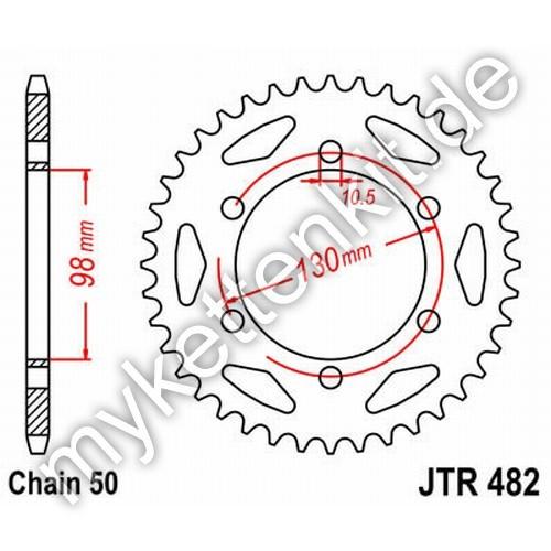Kettenrad JTR482 Stahl