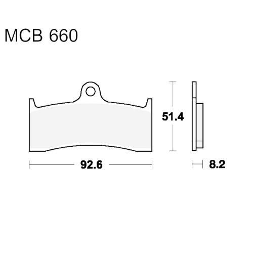 Bremsklotz Sinter vorne TRW MCB660SV (1 Satz)