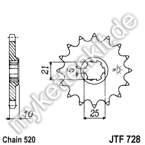 Ritzel JT Sprockets JTF728