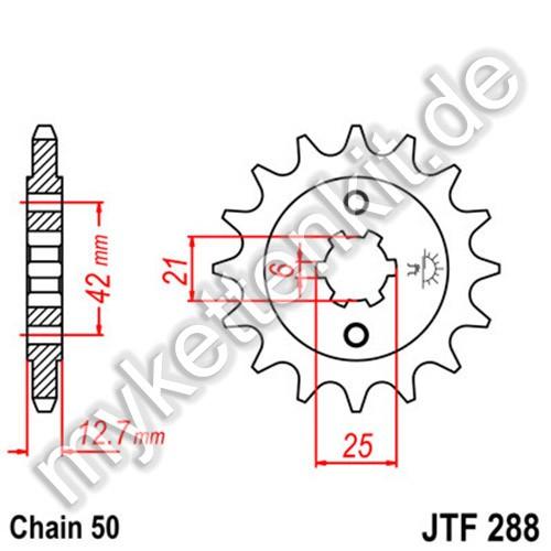 Ritzel JT Sprockets JTF288