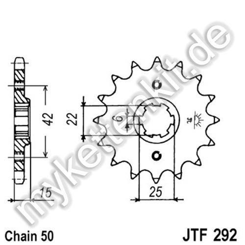 Ritzel JT Sprockets JTF292