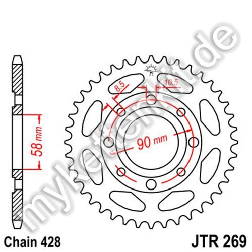 Kettenrad JTR269 Stahl