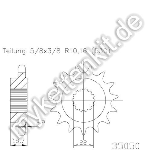 Ritzel Esjot R50-35050