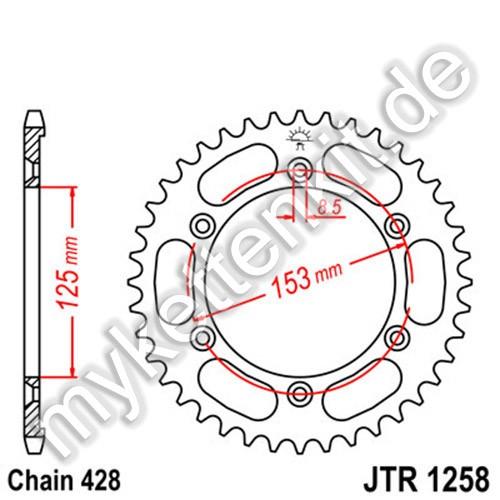 Kettenrad JTR1258 Stahl