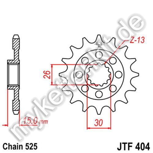Ritzel JT Sprockets JTF404