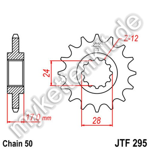 Ritzel JT Sprockets JTF295