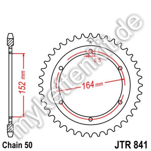 Kettenrad JTR841 Stahl