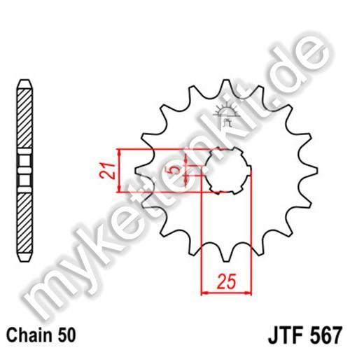 Ritzel JT Sprockets JTF567