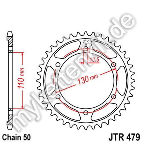 Kettenrad JTR479 Stahl