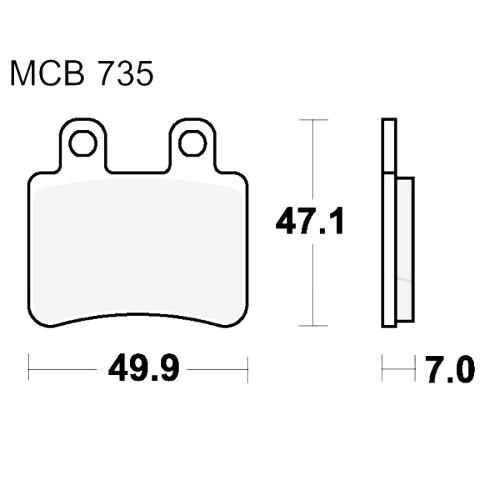 Bremsklotz Standard TRW MCB735 (1 Satz)