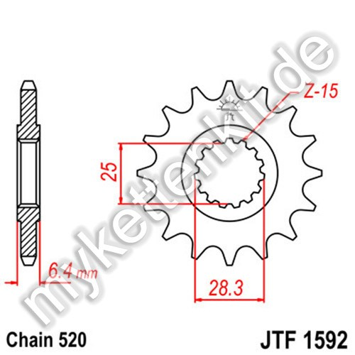 Ritzel JT Sprockets JTF1592
